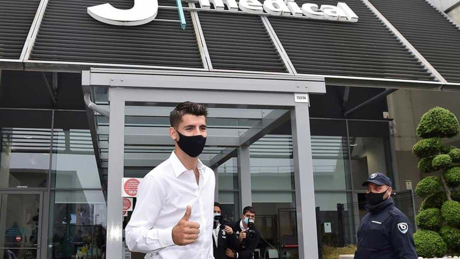 Juventus oficializa chegada de Morata por empréstimo