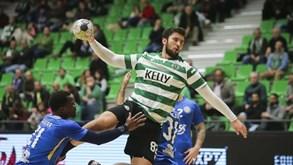 Dínamo Bucareste-Sporting: leão em ação na EHF