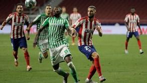 At. Madrid-Betis: colchoneros tentam esquecer goleada europeia