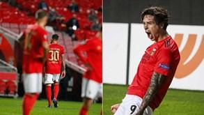 'Cheirou' a nova derrota do Benfica mas tudo acabou com Darwin em festa