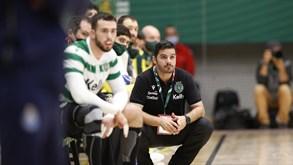 IFK Kristianstad-Sporting: leão em ação na EHF