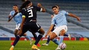 Olympiacos-Manchester City: ingleses na Grécia para carimbar apuramento