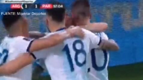 Messi marcó este gol para Argentina, pero el árbitro asistente de video anuló la jugada