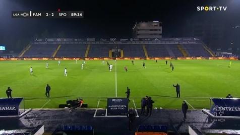 Coates comemorou, VAR errou e árbitro cancelou gol do Sporting