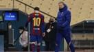 """Ronald Koeman: """"Entiendo a Messi.  No sé cuántas faltas se le han cometido antes """""""