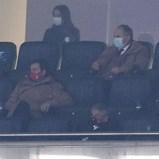 Vieira assistiu ao clássico em camarote ao lado da tribuna
