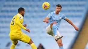 Fulham-Manchester City: equipa de Rúben Dias, Cancelo e Bernardo Silva favorita