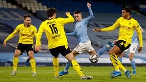 Dortmund-Manchester City: portugueses discutem passagem às 'meias' da Liga dos Campeões