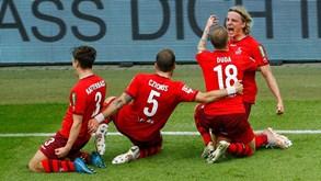 Colónia-Holstein Kiel: primeira mão do playoff de acesso à Bundesliga