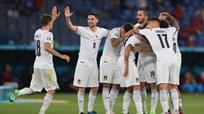 Itália-Suíça: 'Squadra Azurra' procura a segunda vitória no Grupo A