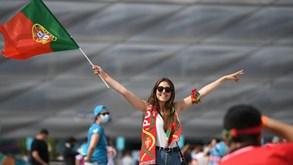 Apoio português já se faz sentir junto à Allianz Arena