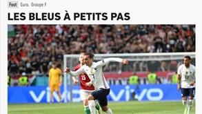 O que diz a imprensa francesa sobre 'a deceção' do empate frente à Hungria