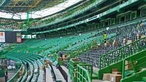 Alvalade está a ficar cada vez mais verde: as obras nas bancadas do estádio do Sporting