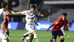 Independiente-Santos: duelo da 2.ª mão dos 'oitavos' da Taça Sul-Americana